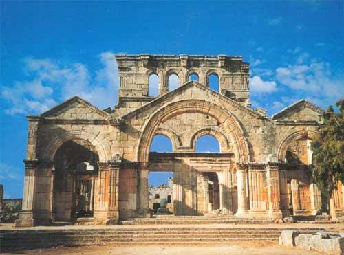 كنيسة قلعة سمعان العامودي